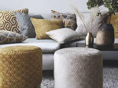 Sofa Sessel Dekostoff Möbelstoff Kissen Polster